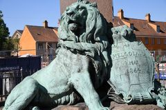 STATUE OF HELOLAND 9 MAY 1864. Copenhagen/Denmark 23.May 2018_Statue of Helgoland 9 may 1864 in danish capital .       Photo.Francis Joseph Dean / Deanpictures Stock Photography