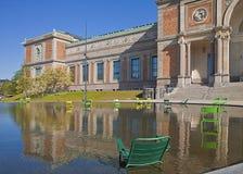 Copenhagen, Denmark - National Gallery and fountain Royalty Free Stock Photo