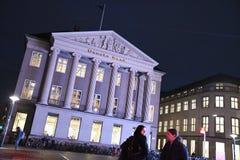 Copenhagen/Denmark 13..November 2018. Danske bank`s head office building kongens nytorv in dans capital Copenhagen Denmar royalty free stock photo