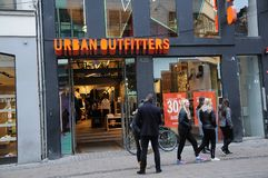 30% discount sale at urban oufitter store stock photo