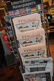 INTERNATIONAL NEWSPAPER STAND. Copenhagen /Denmark - 05 November  2017.  International news papers stand in Copenhagen.     Photo.Francis Dean/Dean Pictures Stock Images