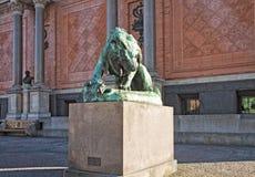 Copenhagen, Denmark, Ny Carlsberg Glyptotek facade with bronze o Stock Photo
