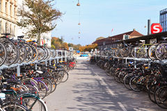 Bikes in Copenhagen, Denmark Royalty Free Stock Photo