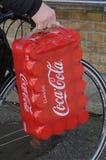 CLASSIC COCA COLA CANS. Copenhagen /Denmark - 06 October  2017.    Classic coca cola cans.   Photo.Francis Dean/Dean Pictures Stock Images