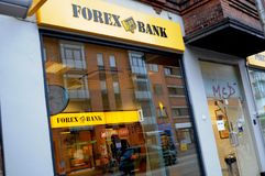 FOREX BANK BRANCH IN COPENHAGEN Royalty Free Stock Photography