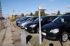 USED FOR RESALE. Copenhagen /Denmark - 09 October 2017. Used car for resale at car dealer in Herlev- Photo.Francis Dean/Dean Pictures royalty free stock image