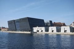 View of the Royal Library. Copenhagen, Denmark - October 10, 2018 : View of the Royal Library in Copenhagen stock photography