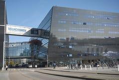 View of the Royal Library. Copenhagen, Denmark - October 10, 2018 : View of the Royal Library skywalk stock photos