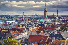 Copenhagen, Denmark. Old city skyline Stock Images