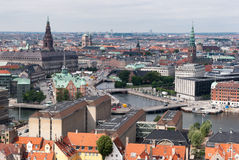 Copenhagen, Denmark. Panoramic city view Royalty Free Stock Image
