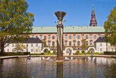 Copenhagen, Denmark : Royal Library Gardens, fountain Royalty Free Stock Images