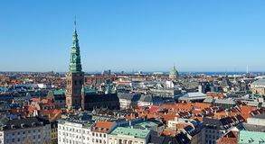 Copenhagen, Denmark seen from above on a sunny day Stock Photos