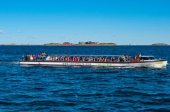 Canal tours boat in port of Copenhagen Stock Photography