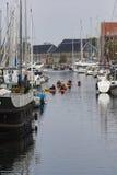 COPENHAGEN, DENMARK -SEPTEMBER 8: Copenhagen canal with boats on Stock Photo