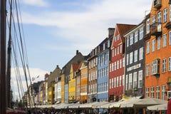 Nyhavn street in Copenhagen Royalty Free Stock Images