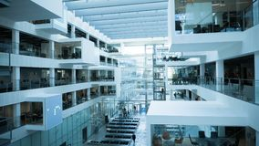 Futuristic architecture of modern university Stock Photo