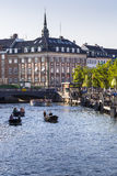 COPENHAGEN, DENMARK - SEPTEMBER 8: Unknown tourists touring the Old Canal in Copenhagen Stock Photography