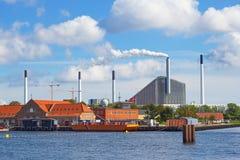Industrial area of Copenhagen Royalty Free Stock Images