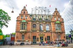 COPENHAGEN, DENMARK: Tivoli park, a famous amusement park and pleasure garden in Copenhagen, Denmark Stock Image