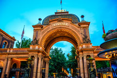 COPENHAGEN, DENMARK: Tivoli park, a famous amusement park and pleasure garden in Copenhagen, Denmark Royalty Free Stock Images
