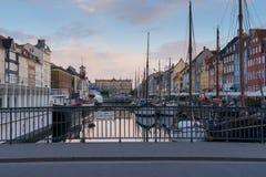 Copenhagen, Denmark - View from the Nyhavn Bridge Nyhavnsbroen Royalty Free Stock Photography