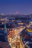 Copenhagen downtown. Cityscape of copenhagen in the bluehour. shopping street Stock Photography