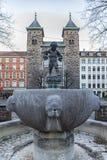 Copenhagen Eliaskirken Fountain Stock Photos