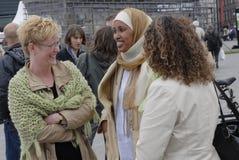 COPENHAGEN ENVIRONMENT 2006_MUSLIM WOMEN Royalty Free Stock Photos