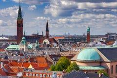 copenhagen flyg- stadssikt royaltyfria bilder