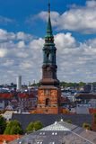 copenhagen flyg- stadssikt arkivfoto