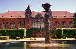 Copenhagen fountain. Danish Jewish Museum in Copenhagen, Denmark Royalty Free Stock Photo