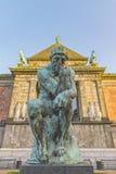 Copenhagen Glyptotek Thinker Statue Stock Photos