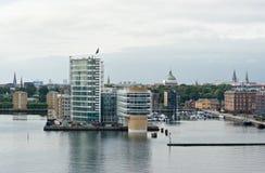 Copenhagen harbor stock photography