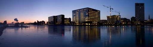 Copenhagen Harbor Panorama Stock Photography