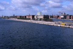 Copenhagen harbour. Langeline in Copenhagen harbour royalty free stock photography