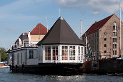 Copenhagen houseboat Royalty Free Stock Images