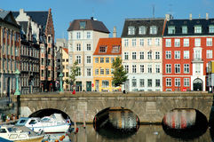 Copenhagen houses. Colorful houses in copenhagen near parliament Royalty Free Stock Images