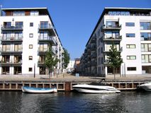 Copenhagen housing area Stock Photos