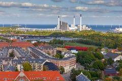 copenhagen lotniczy widok miasta obrazy royalty free