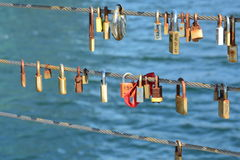 Copenhagen love locks (II) Royalty Free Stock Photography