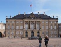 Amalienborg Palace in Copenhagen Royalty Free Stock Images
