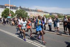 Copenhagen Marathon 2016 leading group Stock Photos