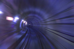 Copenhagen Metro Tunnel Royalty Free Stock Photography