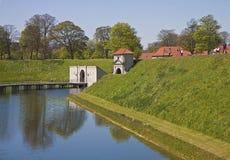 Copenhagen,  moat and  Kastellet fortress entrance Stock Images