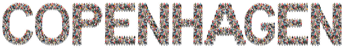 Copenhagen multi ethnic group of people Stock Image