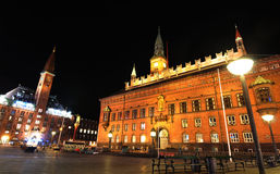 Copenhagen by night Stock Image