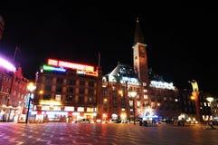 Copenhagen by night Royalty Free Stock Photo