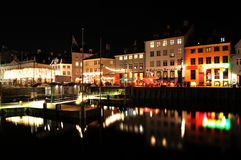 Copenhagen by night Royalty Free Stock Photos