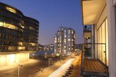 Copenhagen by Night, Denmark Stock Photography