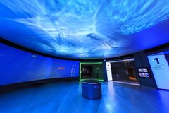 Interior view of the famous National Aquarium Denmark of Copenha Stock Image